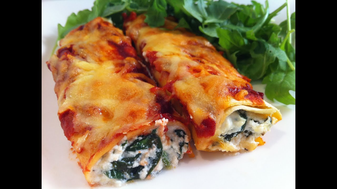 CANNELLONI: SPINACH AND RICOTTA - YouTube