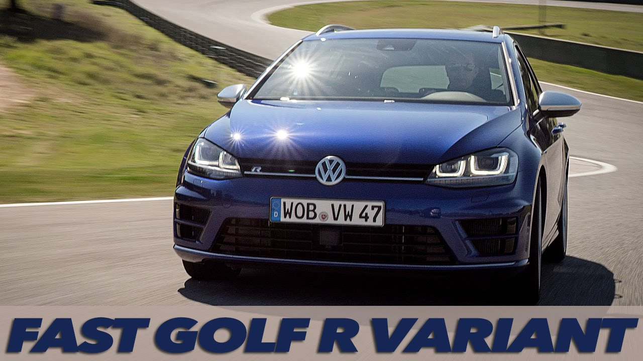 New VW Golf R Variant MK7   LOUD EXHAUST SOUND   TRACK ...