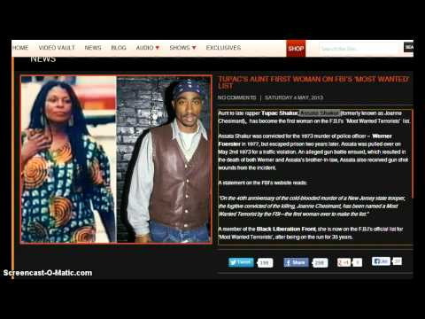 Crazy!  Is Tupac Alive?  Tupac's Aunt is Now First Women On FBI's Most Wanted List!