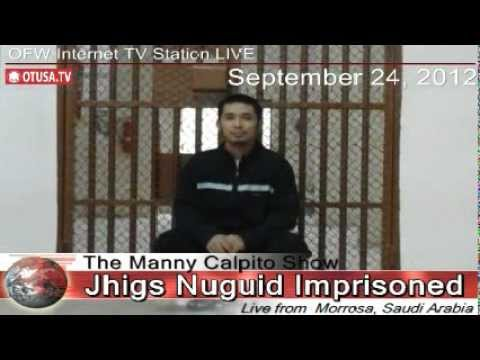 OFW JHIGS NUGUID  LIVE INTERVIEW INSIDE SAUDI ARABIA JAIL  BY OTUSA.TV_ Manny Calpito Show