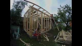 sauna ehituse kaks esimest päeva