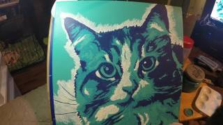 Cat Painting Time Lapse - Brian Ibbott