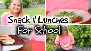 Easy DIY Back To School Lunches + Snack Ideas!