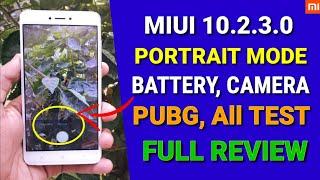 Redmi Note 4 Miui 10.2.3.0 update   Camera Portrait mode, Battery test, PubG, All test
