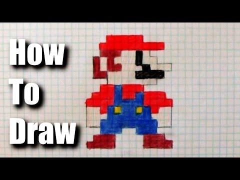 Видео как нарисовать Марио
