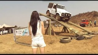 Land Rover Defender stunt! Why did he fail??