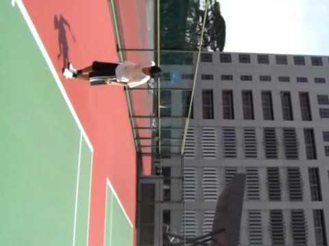七月二日早上 與無名先生打網球 2/2