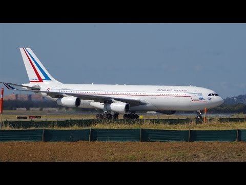 G20 French Air Force A340-212 Landing at Brisbane Airport