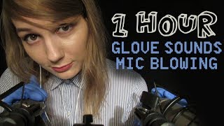 ASMR 1 HOUR Ear Blowing & Glove Sounds (No Talking)