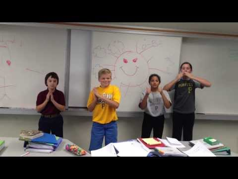 6th Grade Students Sing Chinese Song at Shady Side Academy Middle School