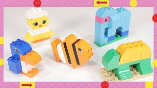LEGO Duplo Animals | Easy activity for Toddlers, Kids | Penguin Fish Elephant Chick Tortoise