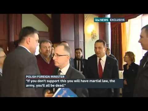 Ukraine protests  Polish minister Radoslaw Sikorski warns protest leader  you'll all be dead