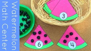 Watermelon Math Center For Preschool and Kindergarten