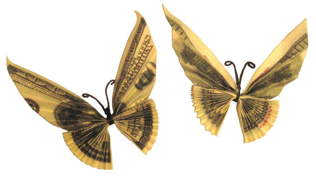 Бабочка своими руками из денежных купюр 21