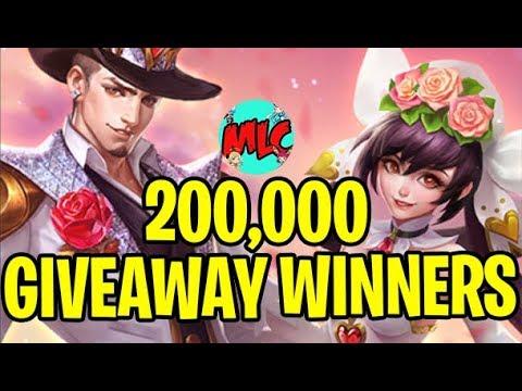 200k Giveaway Winners!
