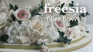 How to Make Gumpaste Freesia Filler Sprays | Global Sugar Art