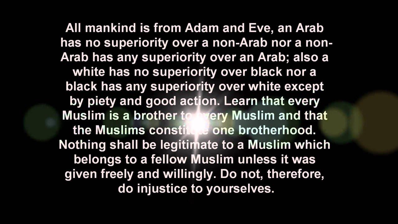 The Last Sermon of Prophet Muhammad Saw Prophet Muhammads Last Sermon