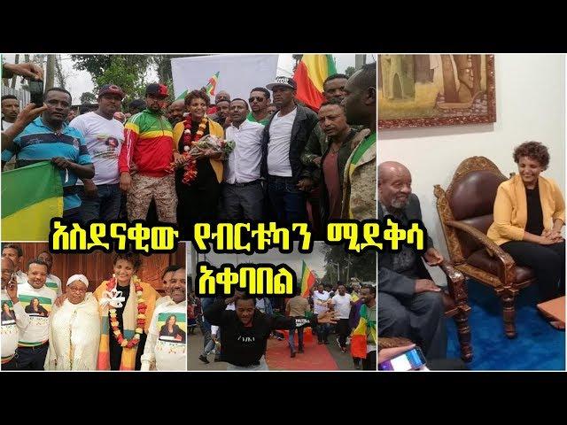 Birtukan Mideksa recives a warm reception in Ethiopia