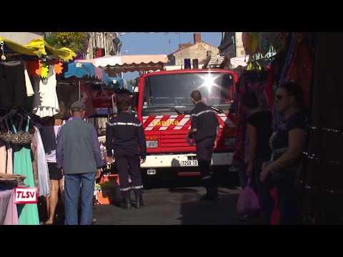 Luçon : les pompiers au milieu de la braderie