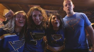 Blues fans gather for games at bar in New York City