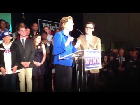 Michelle Nunn addresses supporters after concession