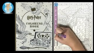Harry Potter Coloring Book by Scholastic Owl Wizard Magic Speed Color - Family Toy Report