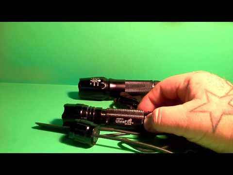 WF 501B  Ultra Fire Cree Q5 LED Tactical Flashlight Gun Light Review