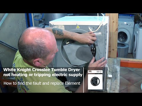 White knight Compact tumble dryer not heating & tripping the electrical supply