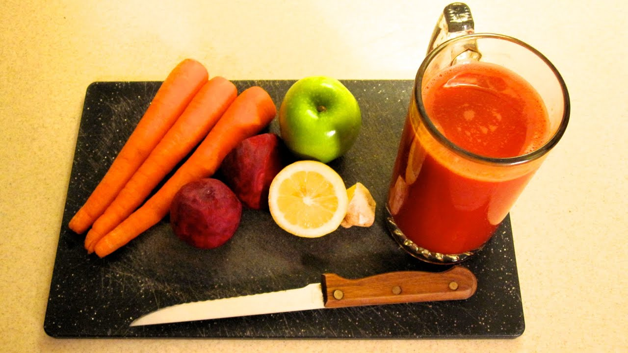 APPLE - BEET- CARROT - JUICE --- (Fat Sick and Nearly Dead) - YouTube