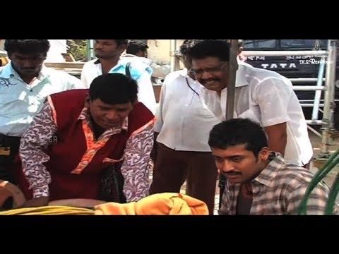 Aadhavan Movie Comedy Making - Vadivelu, Suriya, Ks Ravikumar video