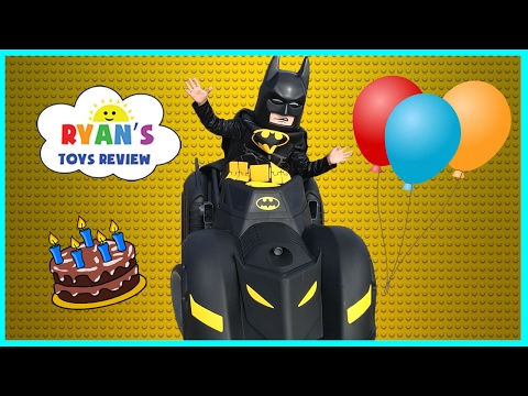 The Lego Batman Movie Surprise Happy Birthday Party! Unboxing Assembling Kids Power Wheels Car