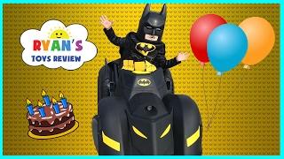 The Lego Batman Movie Surprise Happy Birthday Party! Unboxing Assembling Kids Power Wheels Car