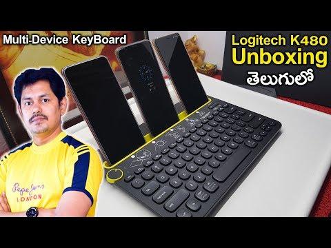 Logitech K480 Multi-Device Bluetooth Keyboard UnBoxing | in Telugu | Tech-Logic