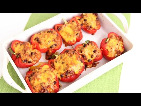 Chili Stuffed Peppers Recipe - Laura Vitale - Laura in the Kitchen Episode 820