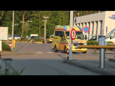 A1 Ambulance 13-177 met spoed naar Olympiaplein in Amsterdam