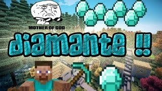 MINECRAFT 1.7.2/1.6.4 Como Encontrar Diamante De La Manera Mas Rapida !