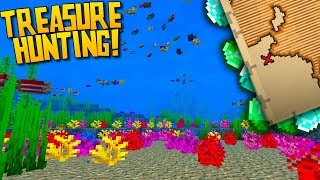 Minecraft 1.13 Aquatic Update : Treasure Hunting & Coral!