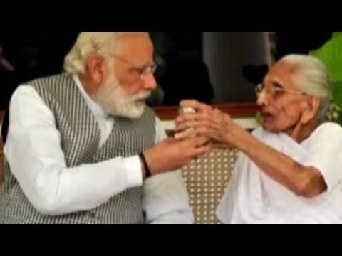 PM Narendra Modi's mother visits his official residence for the first time