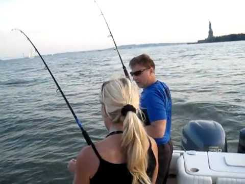 Fishing NY Harbor with Erika Muller Striped Bass Queen