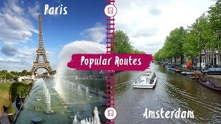 Interrail | Train Route From Paris to Amsterdam