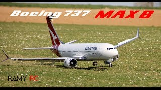 BOEING 737 MAX 8 RC airplane stunning footage