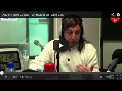 Xavier Pedro Gallego - Entrevista en Radio Sants Montjuic - Barcelona 19-02-13