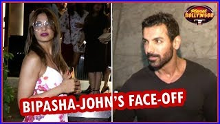 Bipasha Basu - John Abraham Give Each Other A Cold Shoulder   Bollywood News