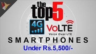 Top 5 4G VOLTE Smartphones Under Rs.5,500/- | Data Dock
