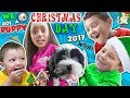 CHRISTMAS DAY TEARS Of JOY! 🎁 NEW PUPPY! FUNnel Fam Holiday Vlog