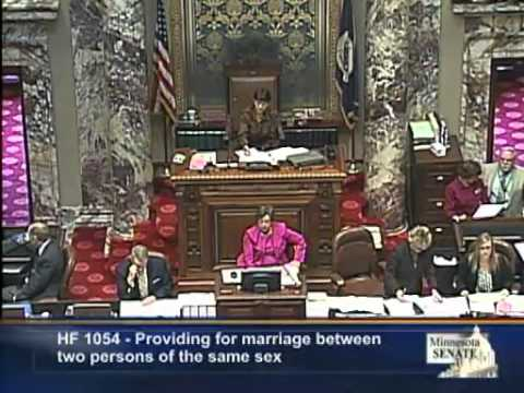 MN Senate Approves Same-Sex Marriage-Full Debate And Vote