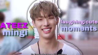 MINGI ATEEZ LAUGHING/CUTE MOMENTS