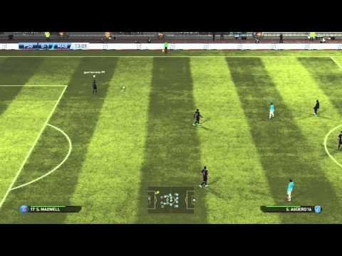 NICE FREE KICK YAYA TOURE AGAINST PSG PES 2015