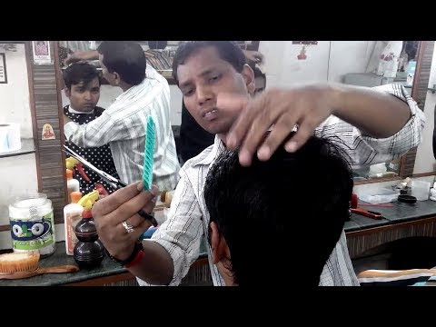 Clean Haircut At The Barbershop In India video