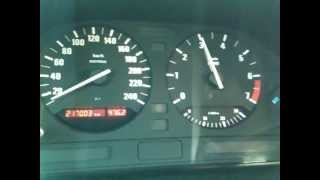BMW e34 touring M50B20TU 0-100 acceleration